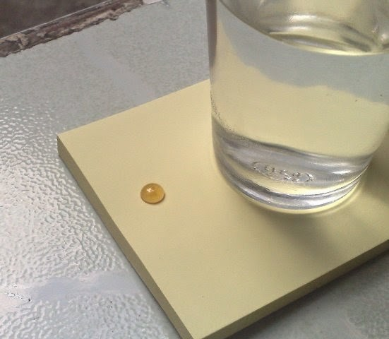 dung giay de kiem tra mat ong that gia